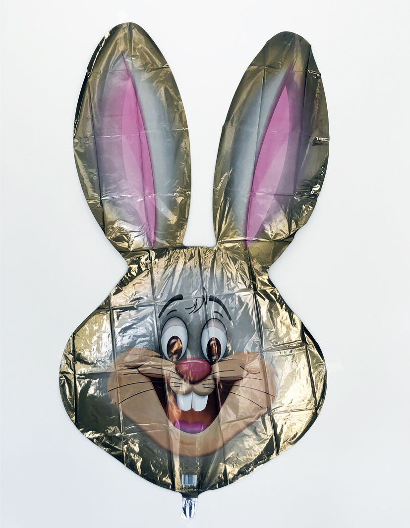 "39"" Brown Bunny Head Foil Balloon"