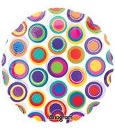 18&#39&#39 See-Thru Colorful Circles Balloon
