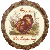 "18"" Happy Thanksgiving SophisticationTurkey"