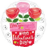 "18"" Love You Sweetie HVD Flower Pot"