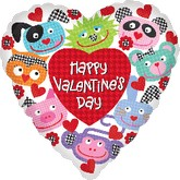 "18"" HVD Critters Boarder Balloon"