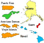 Bargain Balloons - Map us territories guam puerto rico