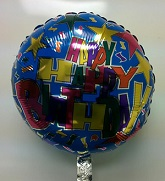 "18"" Happy Birthday Blue Confetti"