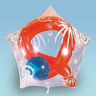 "22"" Fireworks Clear Sparklet Star/White (Latex Not Included)"