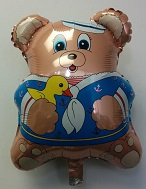 "21"" Sailar Bear Balloon (Damaged Print)"