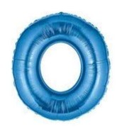"40"" Megaloon Number 0 Shaped Blue Foil Balloon"