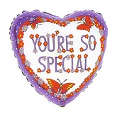"18"" You Are So Special Purple Heart Balloon"