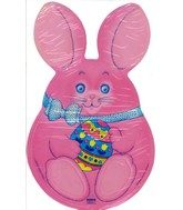 Pinnk Easter Bunny Mini Shape Airfill Balloon(SLIGHT DAMAGE)
