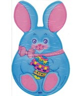 Blue Easter Bunny Mini Shape Airfill Balloon(SLIGHT DAMAGE)