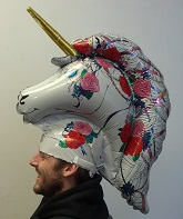 "24"" One Size Fits All Mad Caps Unicorn  Balloon"