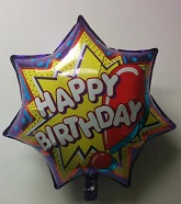 "23"" Jumbo Birthday Star Mylar Balloon"
