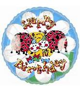 "18"" Happy Birthday Ladybugs"