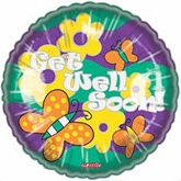 "18"" Get Well Soon Flowers & Butterflies"