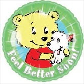 "18"" Feel Better Soon Bear & Puppy"