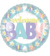 "18"" Welcome Baby Mylar Balloon"
