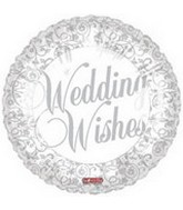 "18"" Wedding Wishes White & Silver"