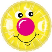 "18"" Smiley Pink Nose Balloon"
