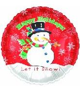 "18"" Happy Holidays Let it Snow"