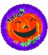 "18"" Trick Or Treat Pumpkin Purple Border"