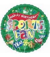 "18"" Happy Birthday Sports Fan"
