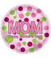 "18"" Happy Mother&#39s Day Pink & Lime Dots"