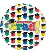 "18"" Congrats Grad Faces with Hats Balloon"