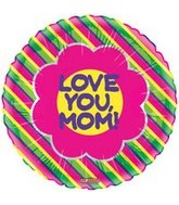 "18"" Love You Mom Sweet Flower Balloon"
