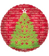 "18"" Seasons Greeting Tree Mylar Balloon"
