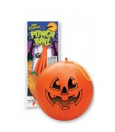 "14"" Jack-o-Lantern Orange Punch Ball Balloon"