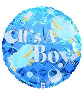 "18"" It&#39s a boy sheep Blue Checkered Balloon"