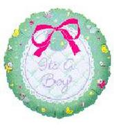 "18"" It&#39s A Boy Bib"