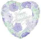"18"" Happy Anniversary  FloralHeart"