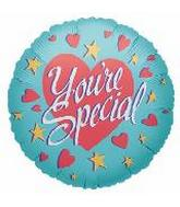 18'' You're Special Hearts & Stars Teal