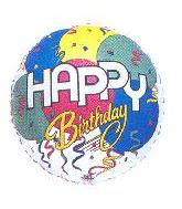 "32"" Birthday Balloons & Streamers White"