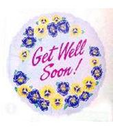 "18"" Get Well Yellow & Blue Flowers"
