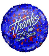 """Thanks for Job Well Done"" Airfill Balloon(DAMAGED PRINT)"