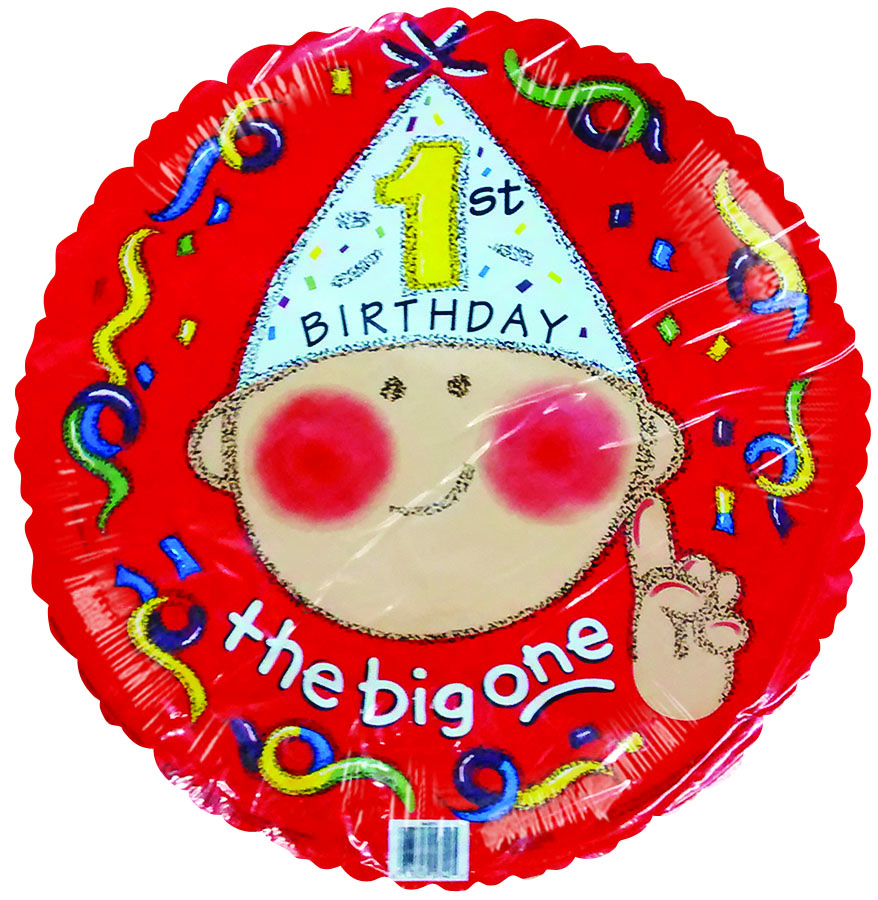 "18"" The Big One 1st Birthday"