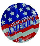 "18"" God Bless America U.S Flag background"