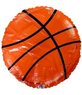 "18"" Orange Basketball Foil Balloon"