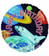 "18"" Happy Birthday Space Shuttle"
