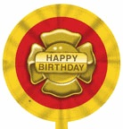 "18"" Firefighter Birthday Balloon"