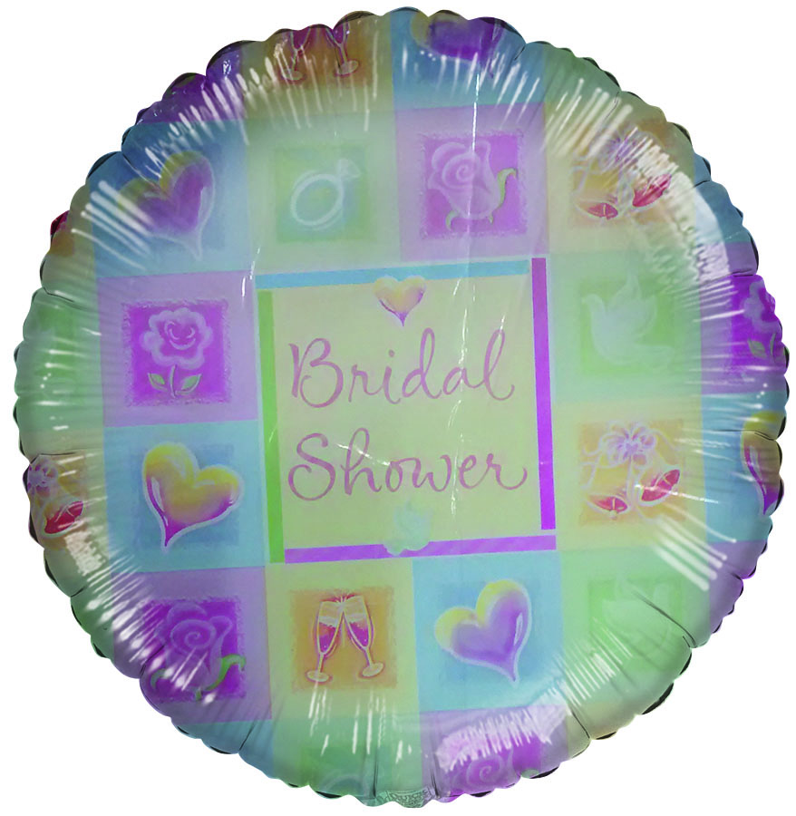 "18"" Bridal Shower colorful Pastel Squares slightly damaged"