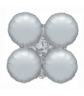 "30"" Magic Arch Large Balloon Metallic Silver"