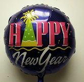 "18"" Happy New Year Purple Balloon"