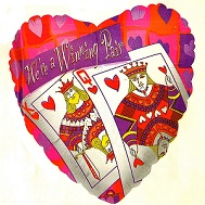 "18"" King & Queen Of Hearts"