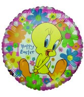 "9"" Licensed Tweety Happy Easter Floral Airfill Balloon"