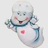 "39"" Smiley Ghost Shape Mylar Balloon"