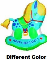 "29"" Blue Rocking Horse Birthday"