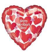32&#39&#39 Happy Valentine&#39s Day Shimmering Hearts