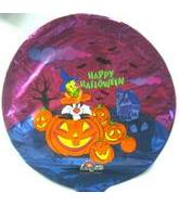 "9"" Airfill Tweety & Slyvester Happy Halloween M598"